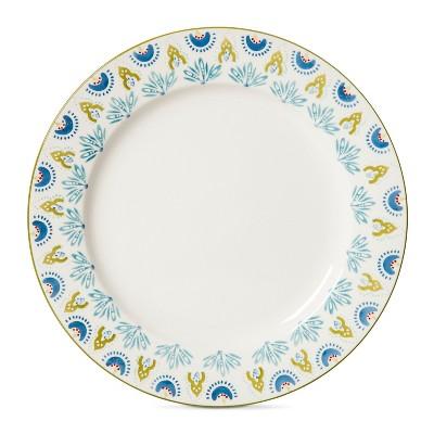 Kennex Stoneware Dinner Plates 10.25  - White - Set of 4