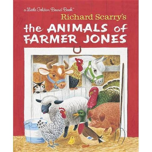 Richard Scarry's the Animals of Farmer Jones - (Board_book) - image 1 of 1