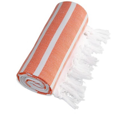 Herringbone Pesetemal Beach Towel Orange