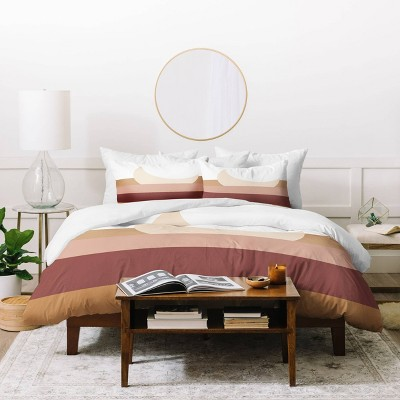 FQ Aleeya Jones Boho Moon Duvet Set Pink/Brown - Deny Designs