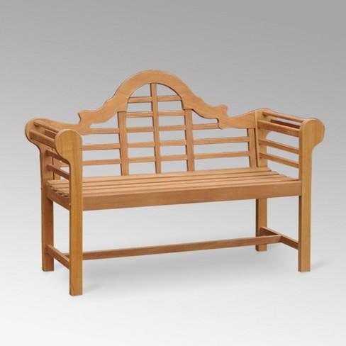 Lutyens Teak Bench - Cambridge Casual - image 1 of 4