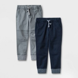Boys Soft Fully Lined Pull-On Pants Tapered Cat /& Jack Navy Blue Size 6