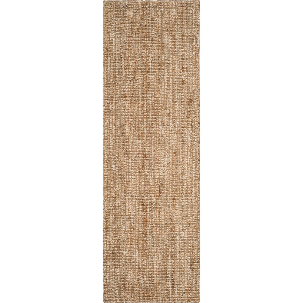 2'6X12' Solid Woven Runner Natural/Ivory - Safavieh