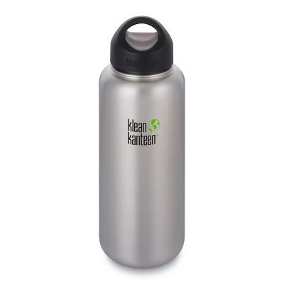Klean Kanteen 40oz Wide Single Wall Bottle - Brushed Silver