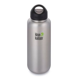 Klean Kanteen 40oz Wide Single Wall Bottle - Brushed Silver