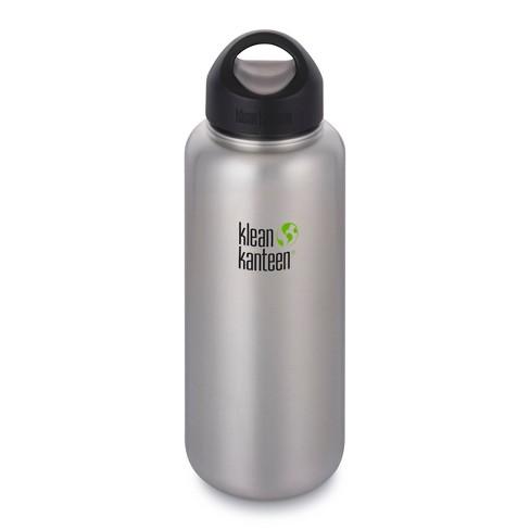 943b2447a7 Klean Kanteen 40oz Wide Single Wall Bottle - Brushed Silver : Target