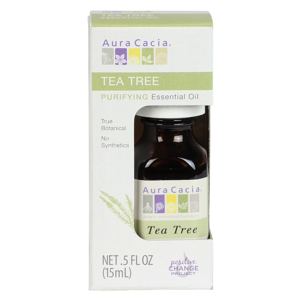Aura Cacia Tea Tree Cleansing Essential Oil - 0.5 oz, Clear