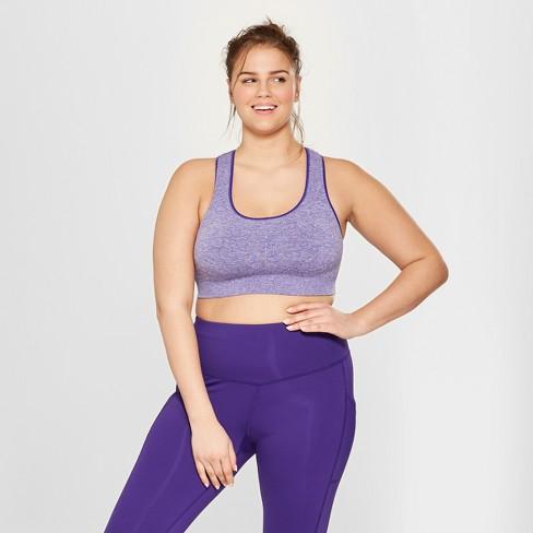 01069d9c4e6 Women s Plus Size Medium Support Seamless Racerback Sports Bra - C9  Champion® Violet Stone Heather 4X