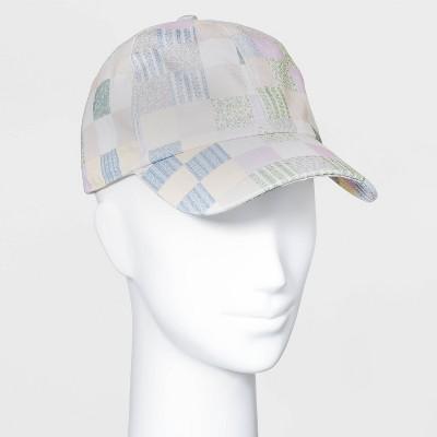 Women's Patchwork Baseball Hat - Universal Thread™ Blue