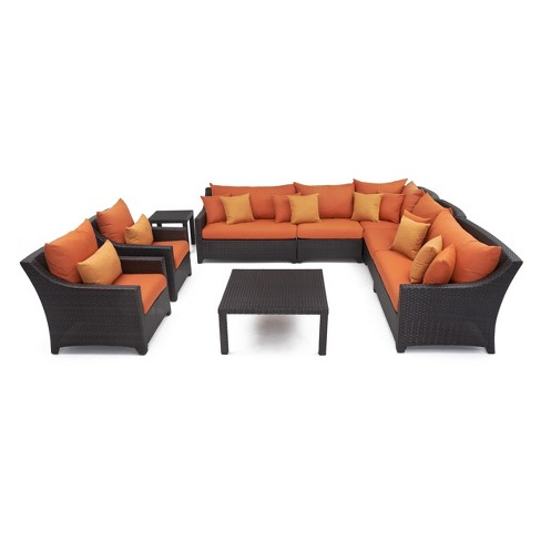 RST Brands Deco 9-piece Sectional and Club Chair Set - image 1 of 7