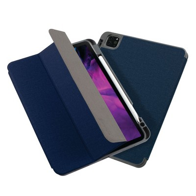 """Insten - Soft TPU Tablet Case For iPad Pro 11"""" 2020, Multifold Stand, Magnetic Cover Auto Sleep/Wake, Pencil Charging, Dark Blue"""