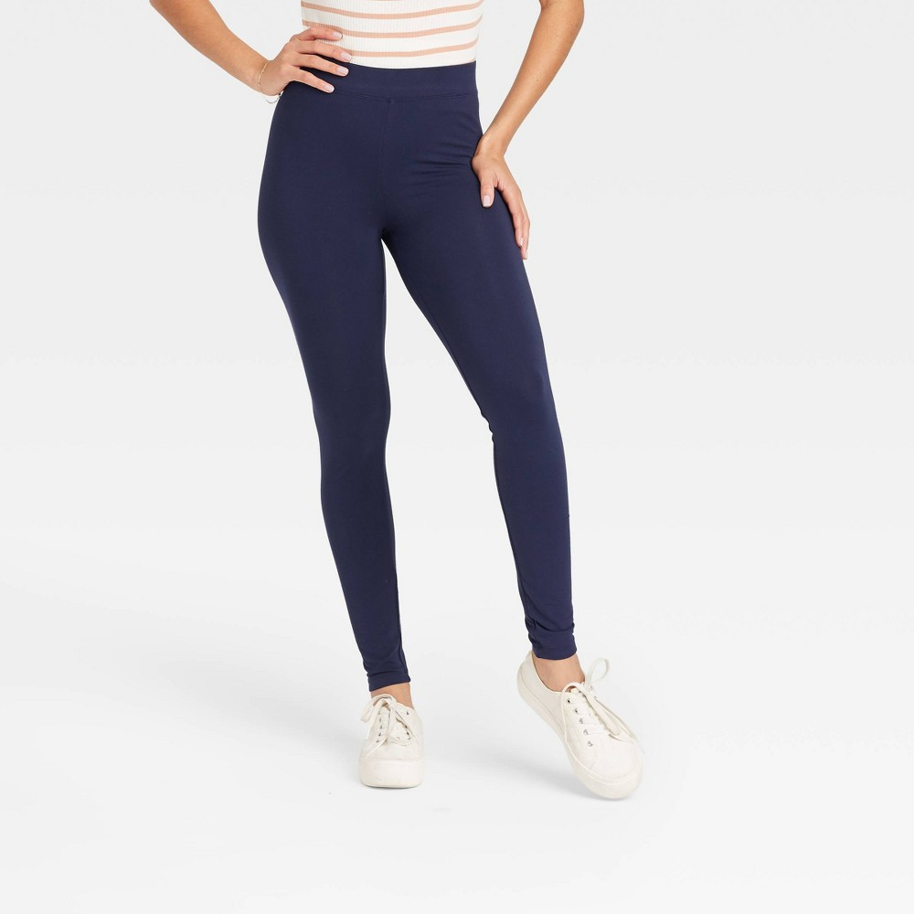 Women 39 S High Waisted Ankle Leggings A New Day 8482 Navy Xxl
