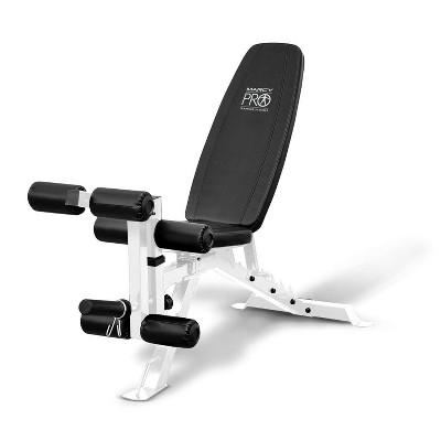 Marcy Powder Coated Steel Home Gym Multipurpose Adjustable Weight Bench, White