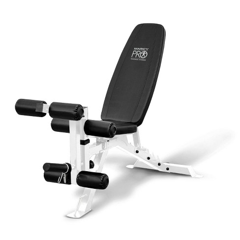 Marcy Powder Coated Steel Home Gym Multipurpose Adjustable Weight Bench, White - image 1 of 4