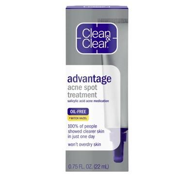 Clean & Clear Advantage Spot Treatment with Witch Hazel - .75 fl oz