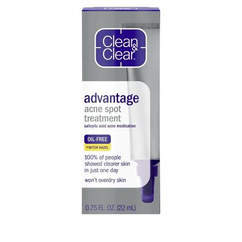 Clean & Clear Advantage Spot Treatment with Witch Hazel - .75 fl oz - image 1 of 4