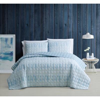 Full/Queen 3pc Trevor Quilt Set Blue/White - Brooklyn Loom