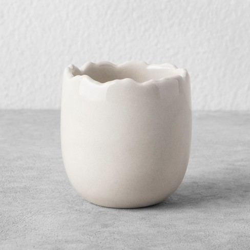 Egg Votive Candle Holder - Cream - Hearth & Hand™ with Magnolia - image 1 of 3