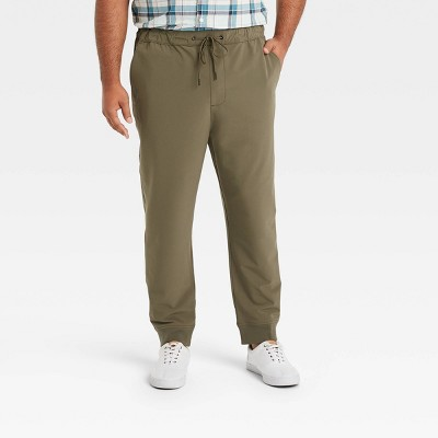 Men's Tech Tapered Jogger Pants - Goodfellow & Co™ Olive Green
