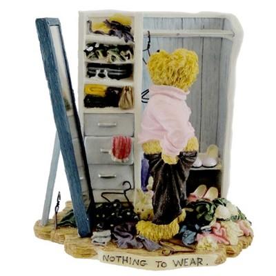 "Boyds Bears Resin 5.0"" Natalie Nuttinfits Fashion Bearstone Diet 1E  -  Decorative Figurines"