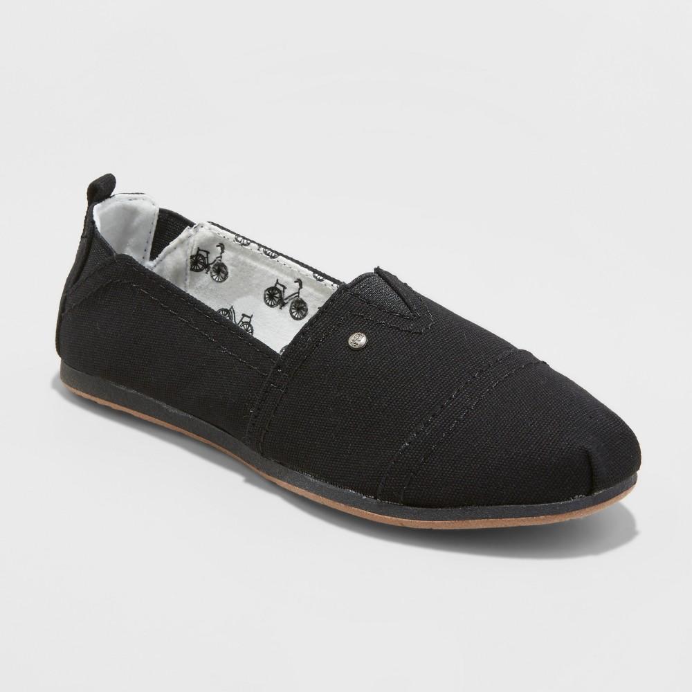 Women's Mad Love Lydia Wide Width Slip On Canvas Sneakers - Black 12W, Size: 12 Wide