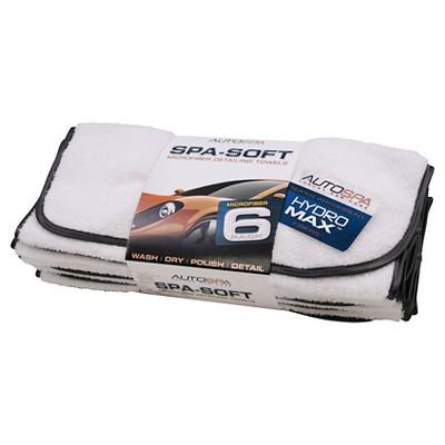 AutoSpa 6pk Spa Soft Detailing Automotive Towels