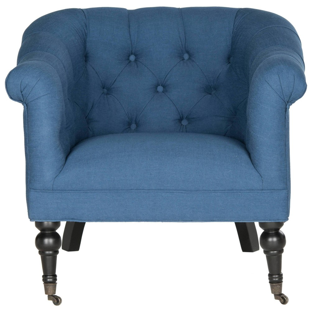 Nicolas Club Chair Steel Blue - Safavieh