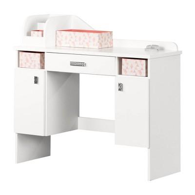 Tiara Makeup Desk Pure White - South Shore