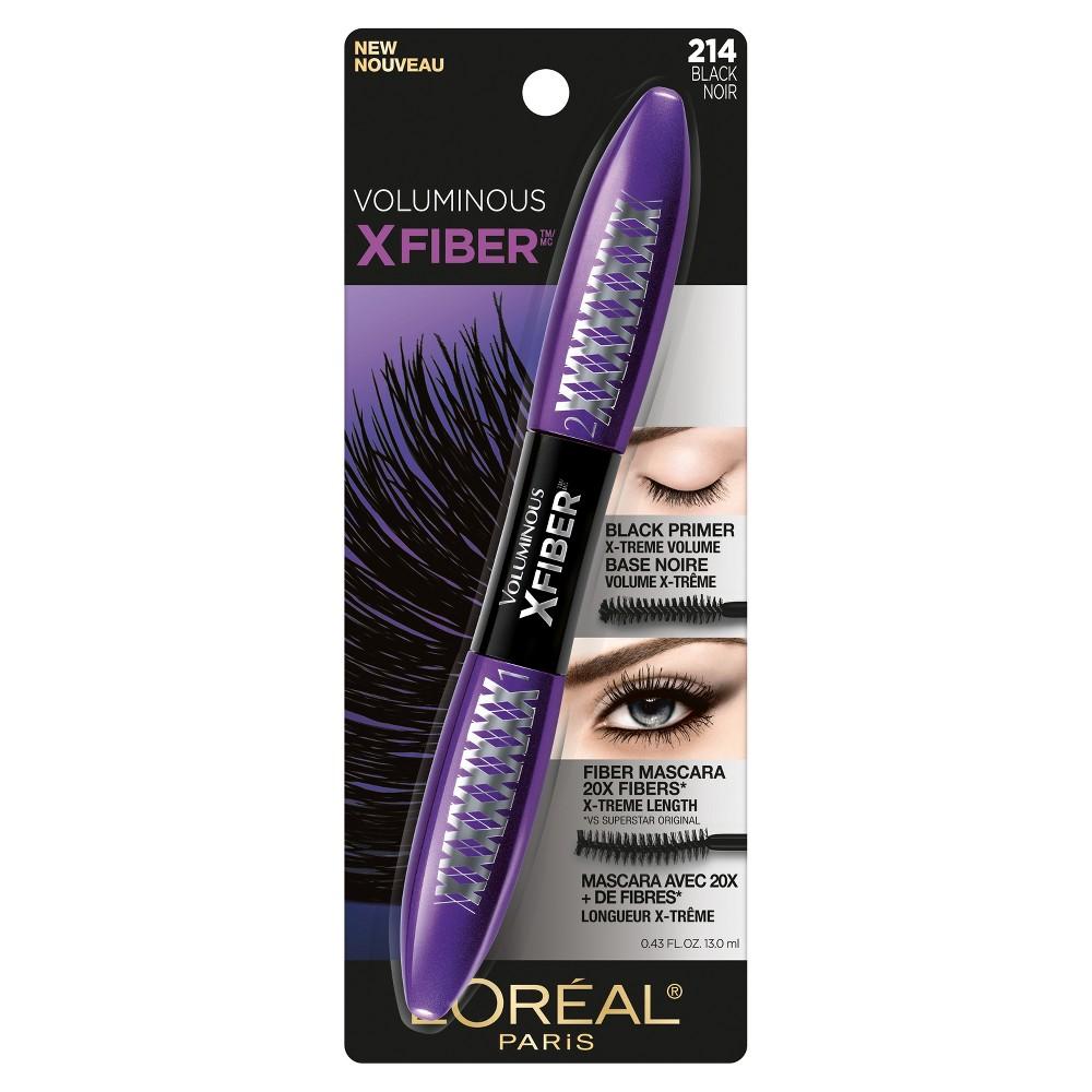 L'Oréal Paris Voluminous X Fiber Washable Mascara Black - 0.43 fl oz.