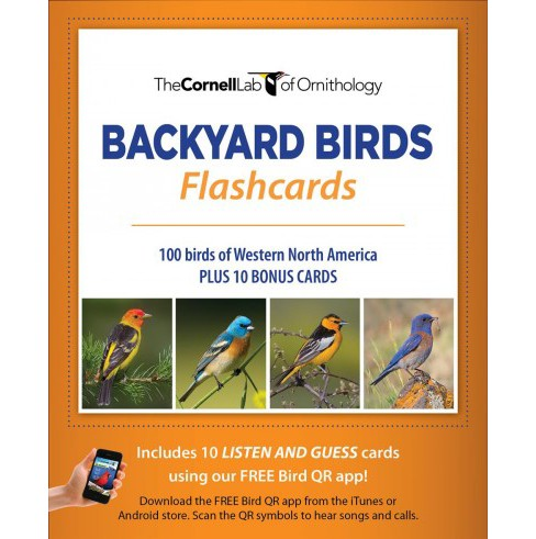 Bird Id Flash Cards, Western Na -  (Paperback) - image 1 of 1