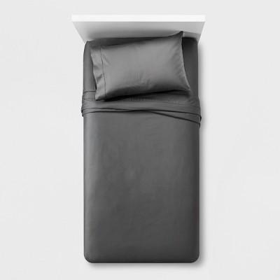 Performance Sheet Set (Queen) Dark Gray 400 Thread Count - Threshold