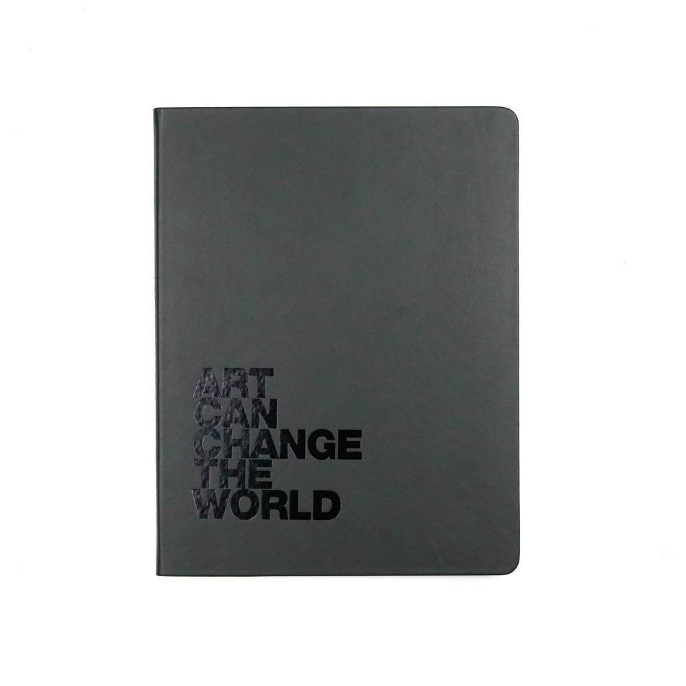 Leather Hard Cover Sketchbook Art Can Change The World Denik