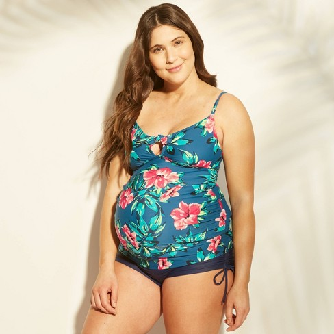Maternity Floral Print Tropical Tie Front Tankini Top Isabel Maternity By Ingrid Isabel M Target