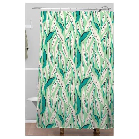 Leaf Shower Curtain Green