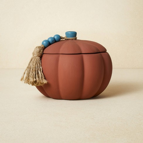 10oz Terracotta Pumpkin Blue Candle - Opalhouse™ designed with Jungalow™ - image 1 of 4