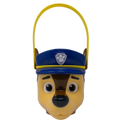 PAW Patrol Chase Character Plastic Pail Halloween Trick or Treat Containers - image 1 of 4