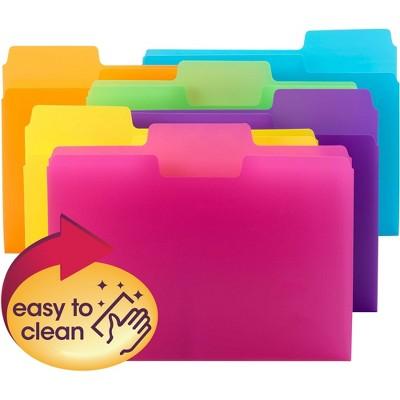 "Smead File Folders SuperTab Poly 1/3-cut 11-5/8""x9-1/2"" 18/PK AST 10515"