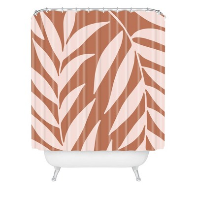 Emanuela Carratoni Palms on Baked Earth Shower Curtain Pink - Deny Designs