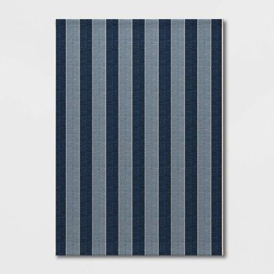 Outdoor Rug Beach Stripe Blue - Threshold™