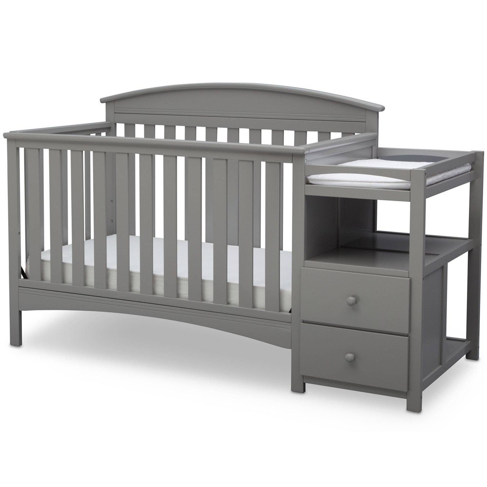 Image of Delta Children Abby Convertible Crib and Changer - Gray