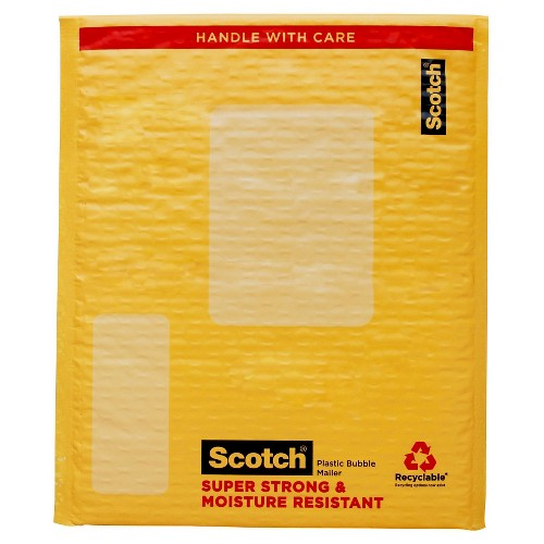 Scotch Self-Sealing Cushion Mailer 8.5in x 11in, Yellow