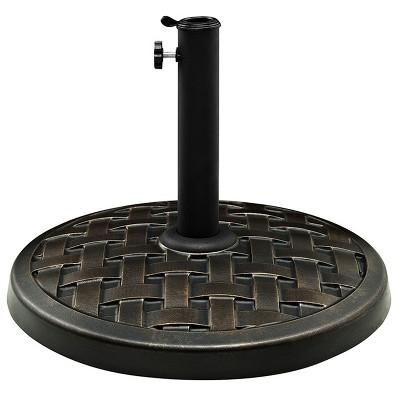 Round Polyresin Umbrella Base - Antique Bronze - Saracina Home
