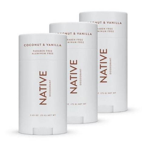 Native Natural Deodorant, Coconut Vanilla for Women and Men Aluminum and Paraben Free - image 1 of 4