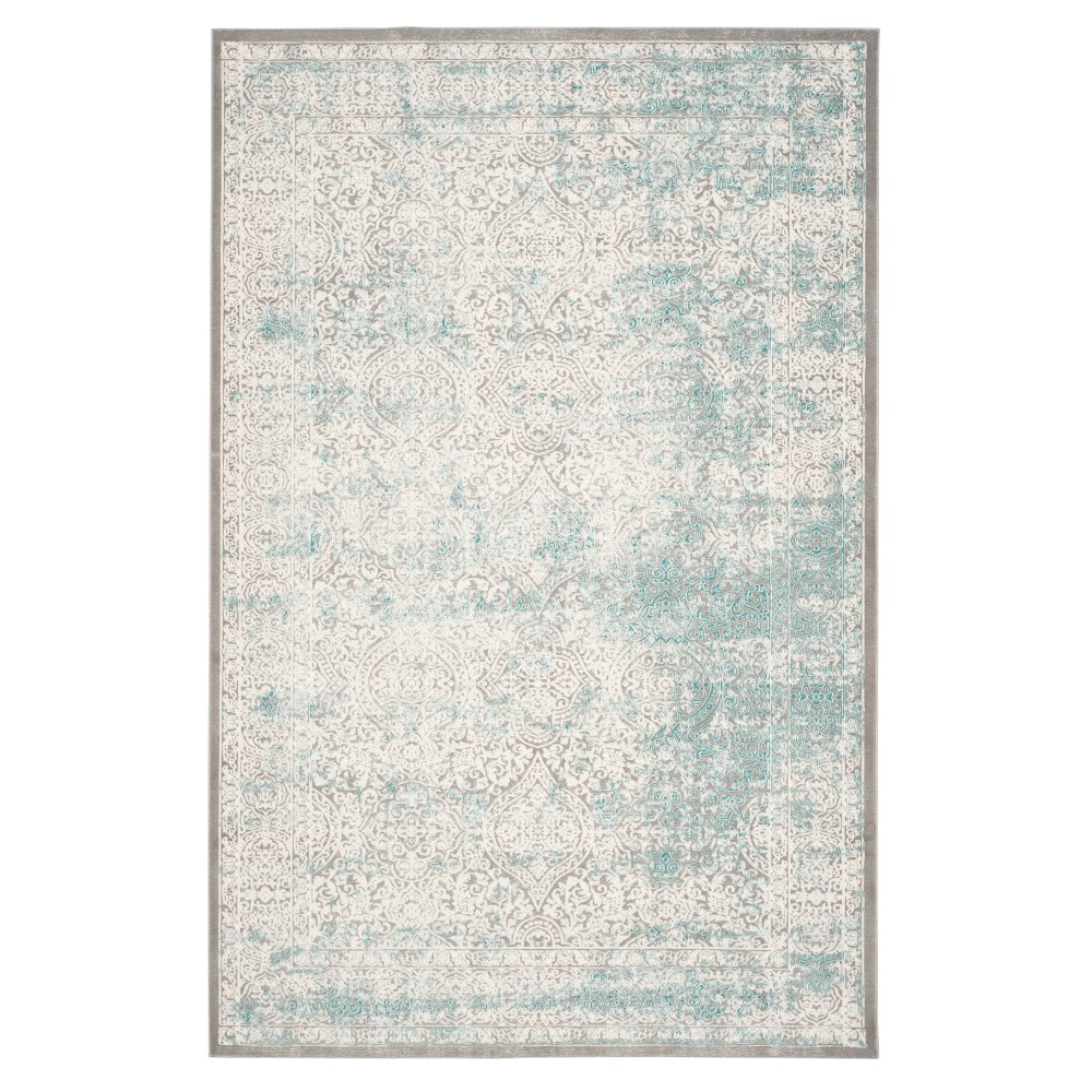 10 39 X14 39 Swirl Loomed Area Rug Turquoise Ivory Safavieh