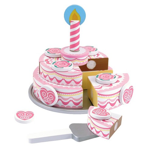 Melissa & Doug® Triple-Layer Party Cake Wooden Play Food Set - image 1 of 6