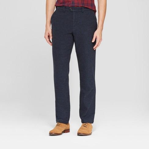 Men's Solid Slim Lightweight Trouser - Goodfellow & Co™ Xavier Navy 32x34 - image 1 of 3