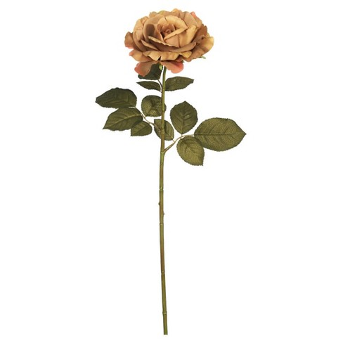 "Artificial Autumn French Rose (Pk/3) (26"") Light Brown - Vickerman - image 1 of 1"