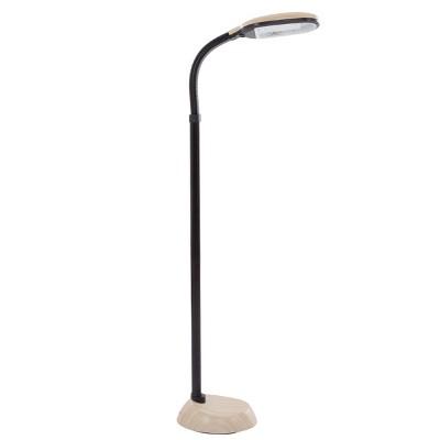 Hastings Home Natural Full-Spectrum Sunlight Reading Floor Lamp - Light Woodgrain