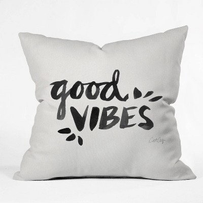 Cat Coquillette Good Vibes Throw Pillow -Deny Designs