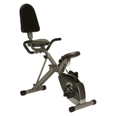 Exerpeutic Folding Semi Stationary Recumbent Bike